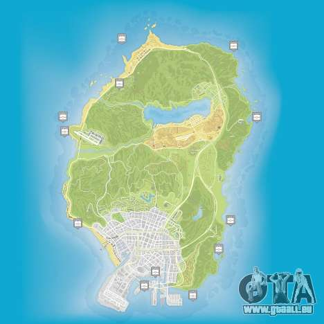 Carte des paquets cachés dans Grand Theft Auto 5