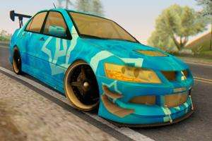 Mitsubishi Lancer Evolution IIIX Blue Star für GTA San Andreas