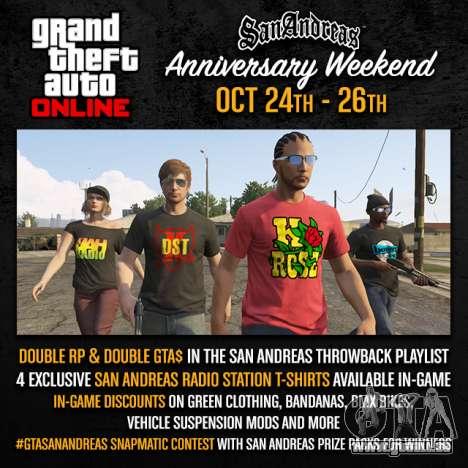 ein Wochenende in San Andreas: die Preise und Wettbewerbe