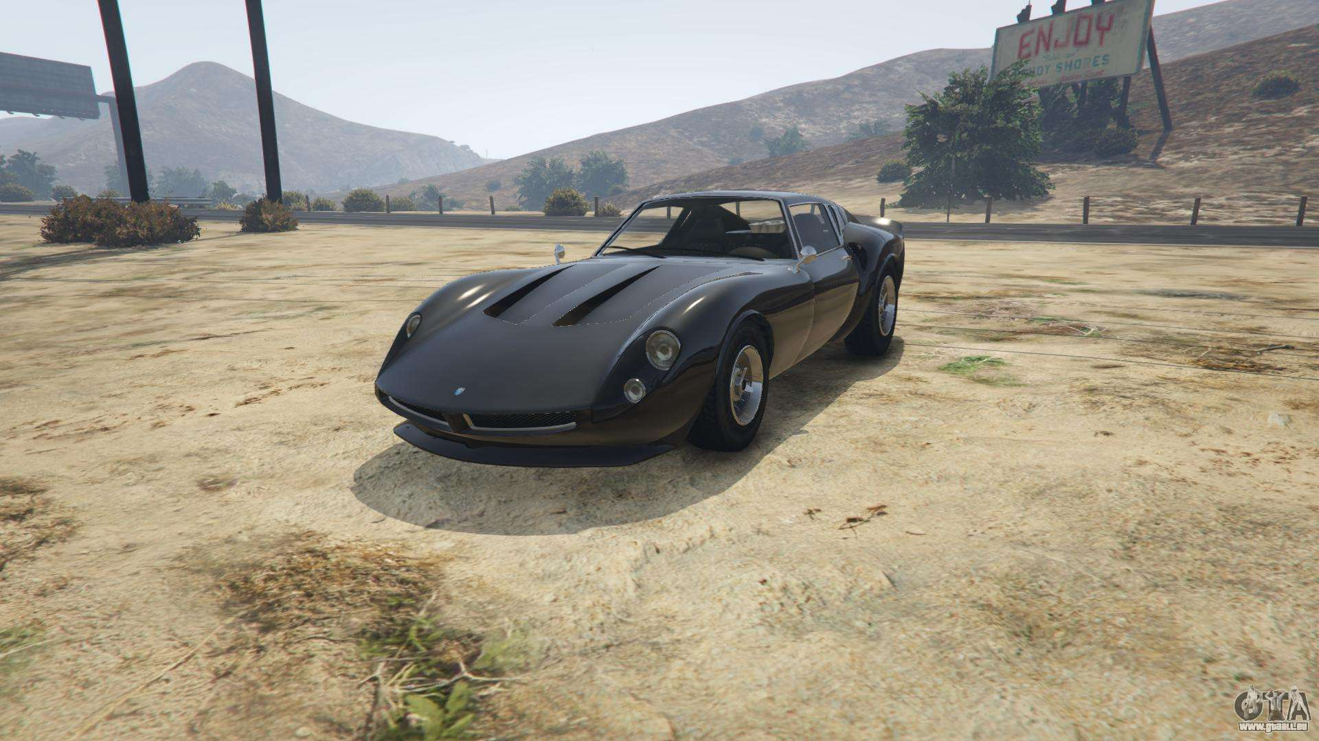 Grotti Stinger GT de GTA 5 - vue de face