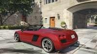 Obey 9F Cabrio GTA 5 - vue de l'arrière