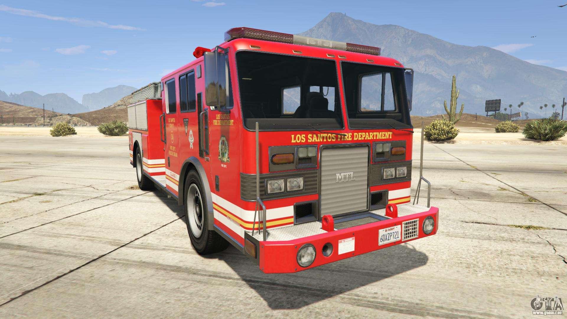 GTA 5 MTL Fire Truck - vue de face