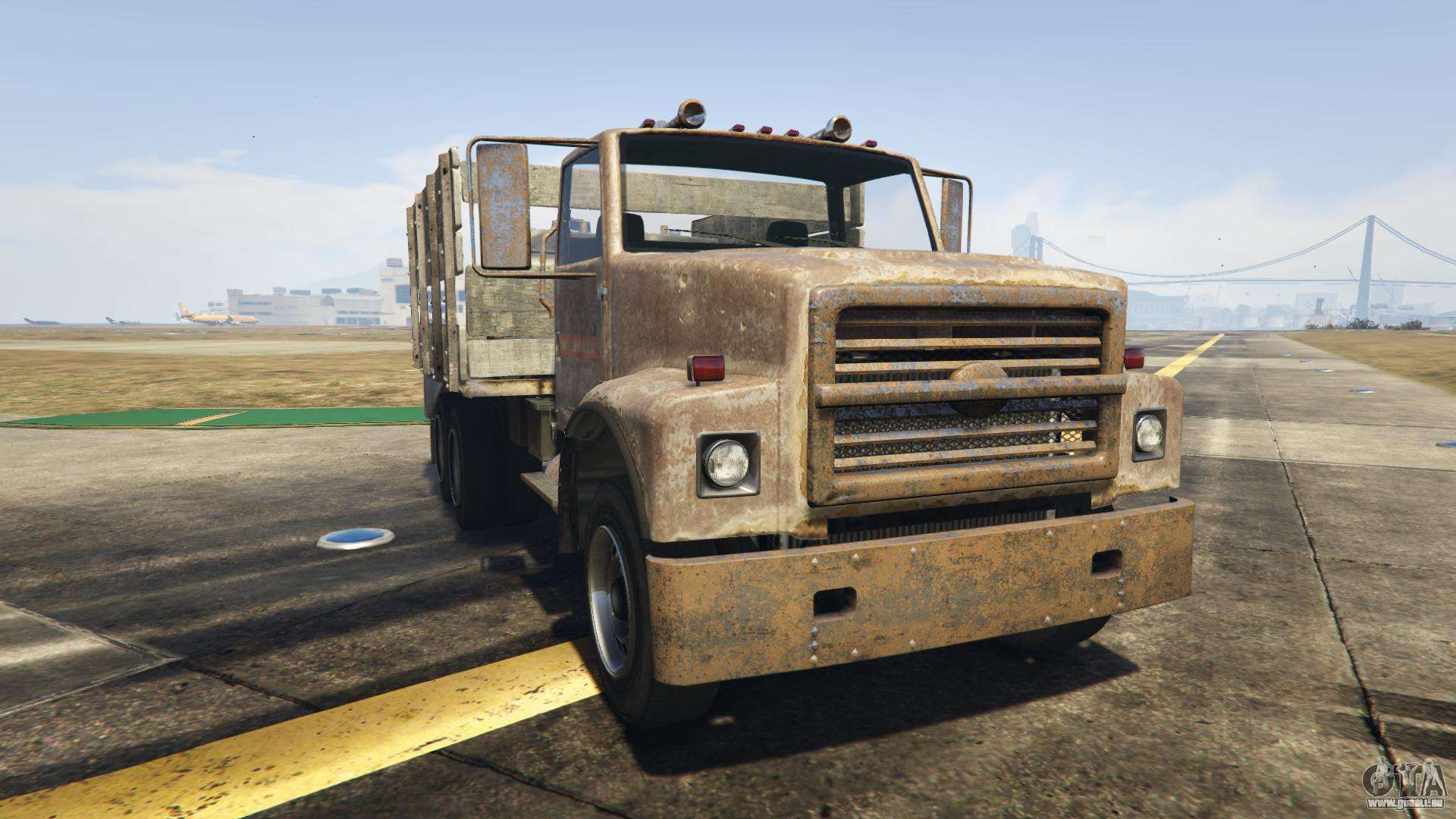 GTA 5 Vapid Scrap Truck - vue de face