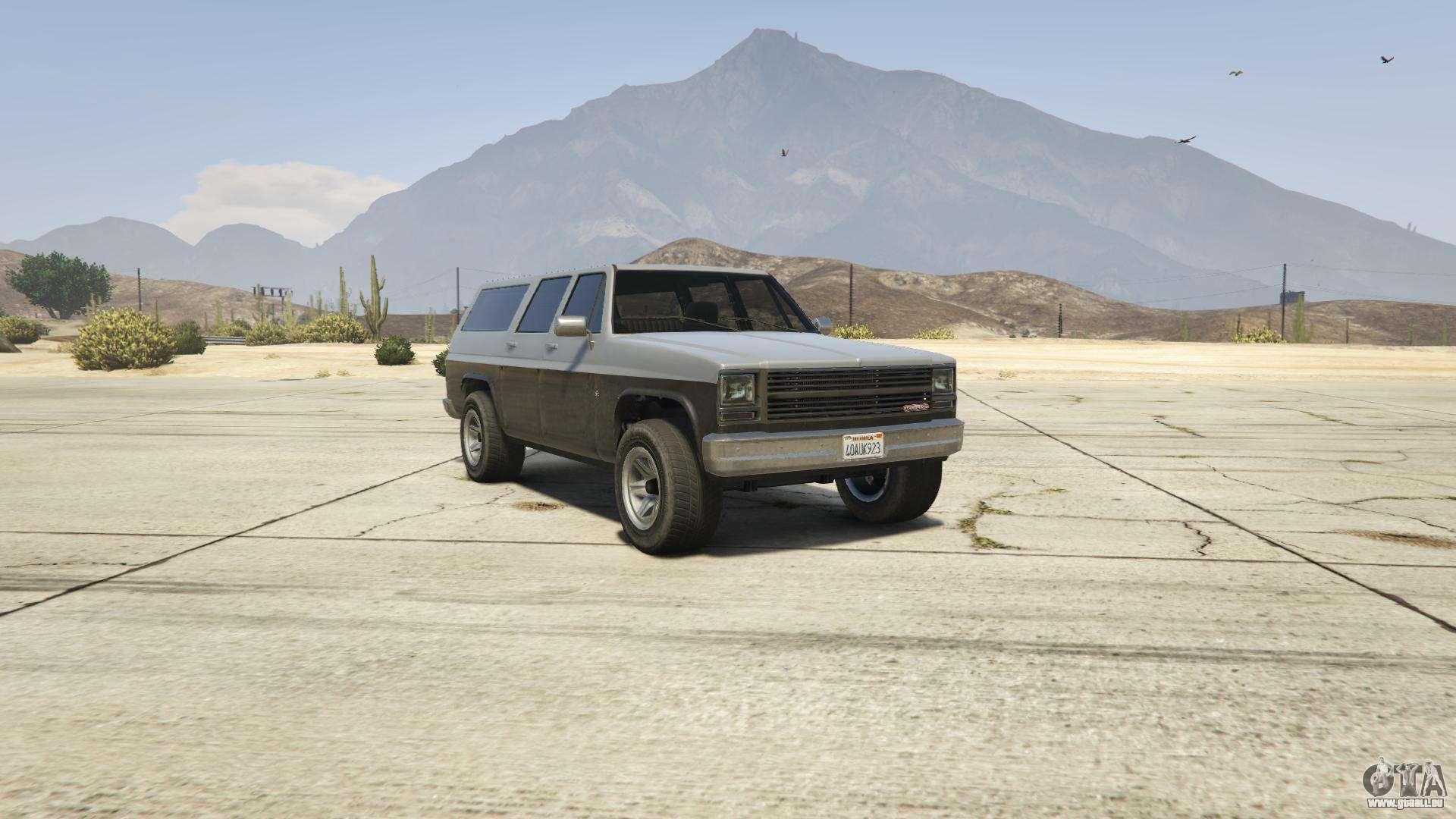 GTA 5 Declasse Rancher XL - vue de face