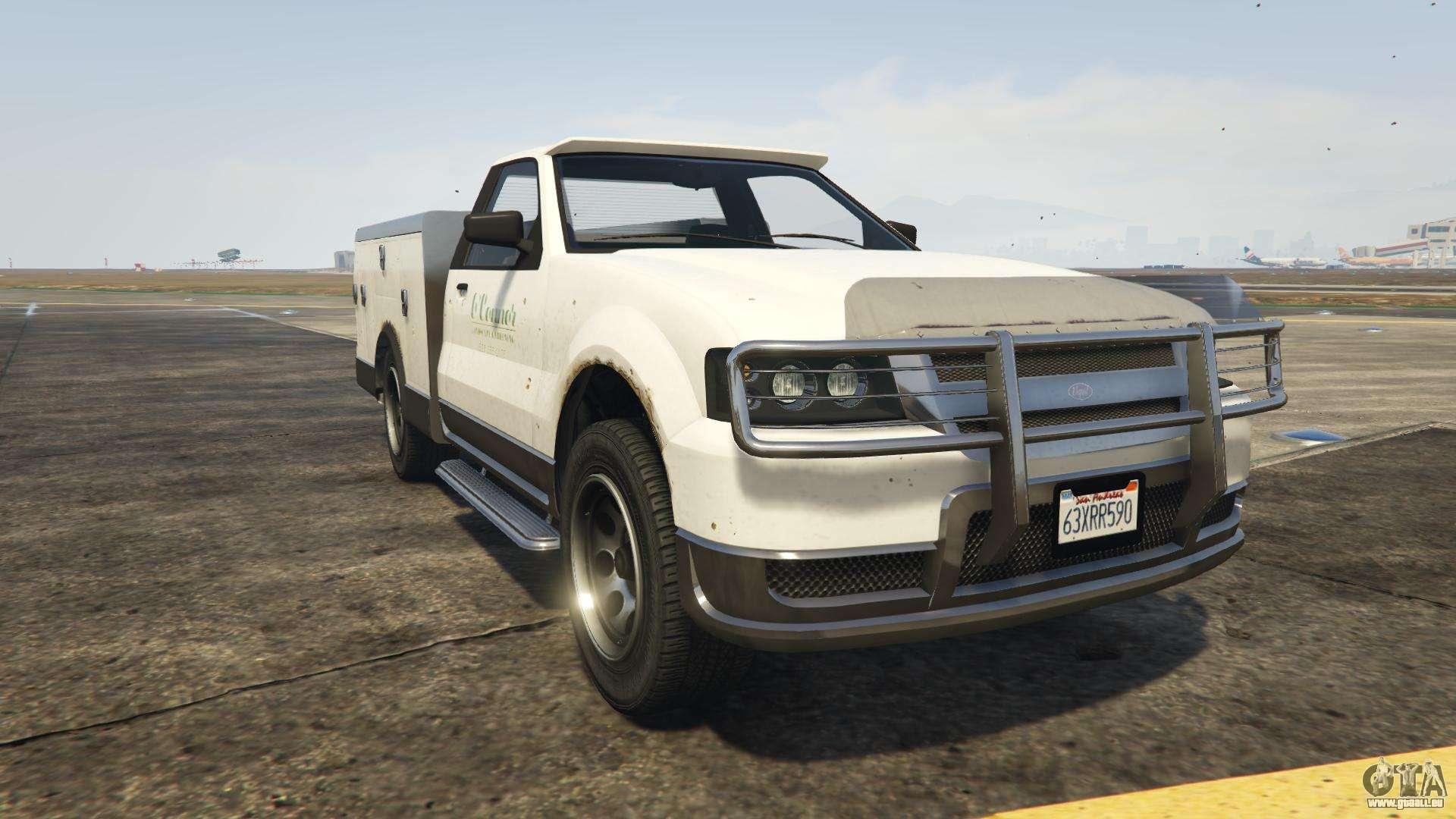 GTA 5 Vapid Utility Truck - vue de face