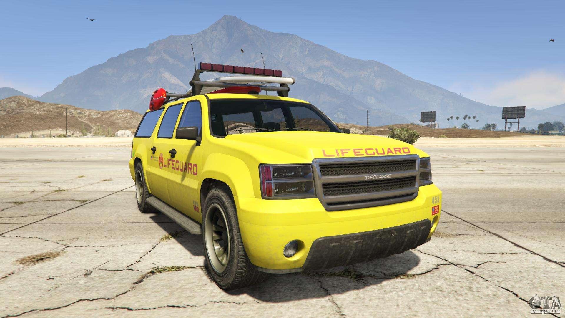 GTA 5 Declasse Lifeguard - vue de face