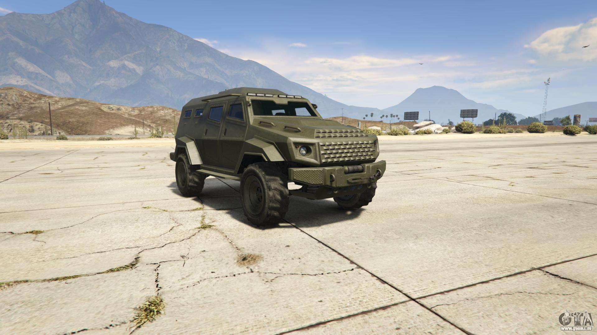 GTA 5 HVY Insurgent - vorderansicht
