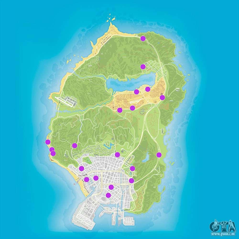 gta v karte Karte der Läden auszurauben in GTA 5