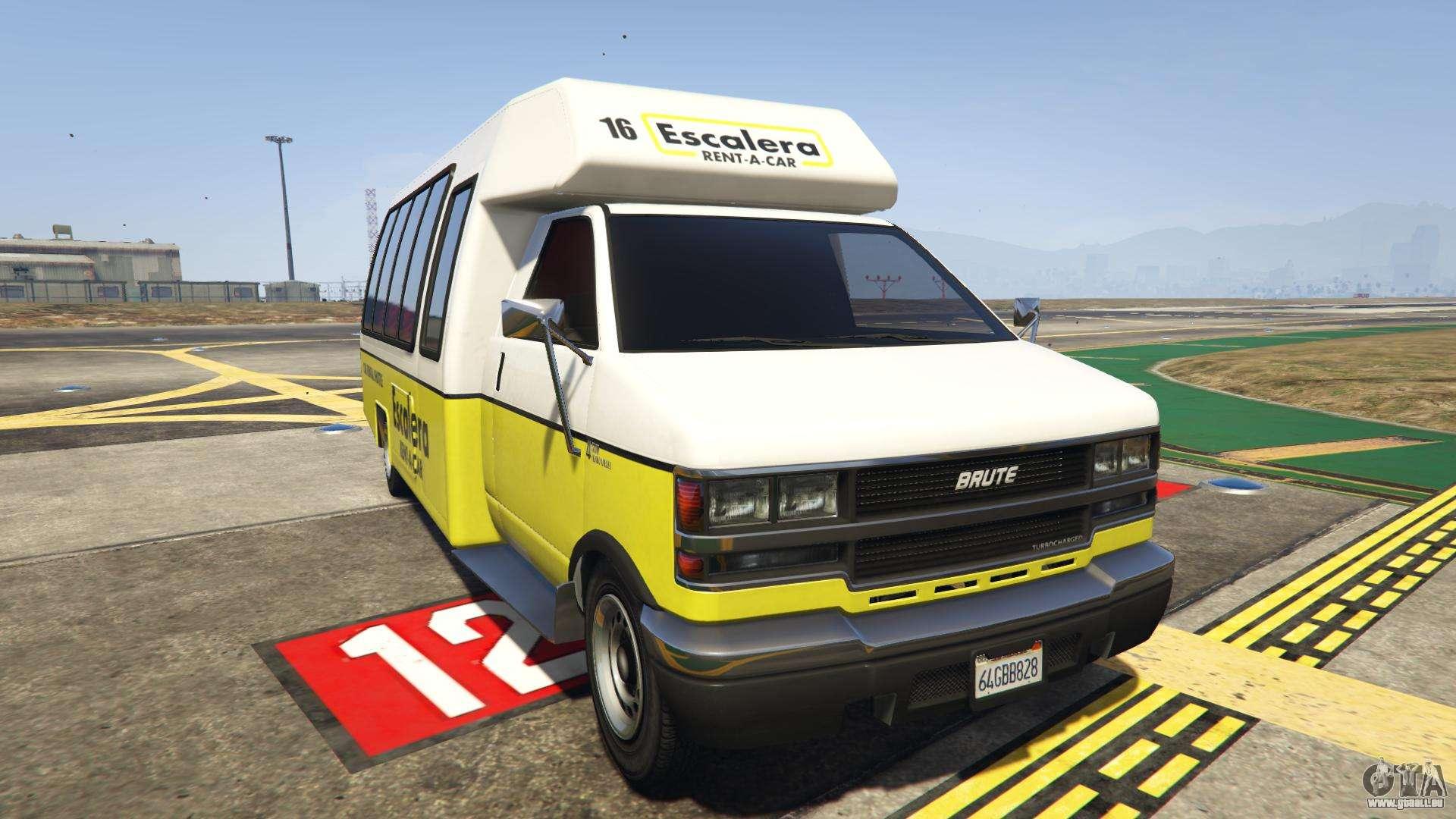 GTA 5 Brute Rental Shuttle Bus - vue de face