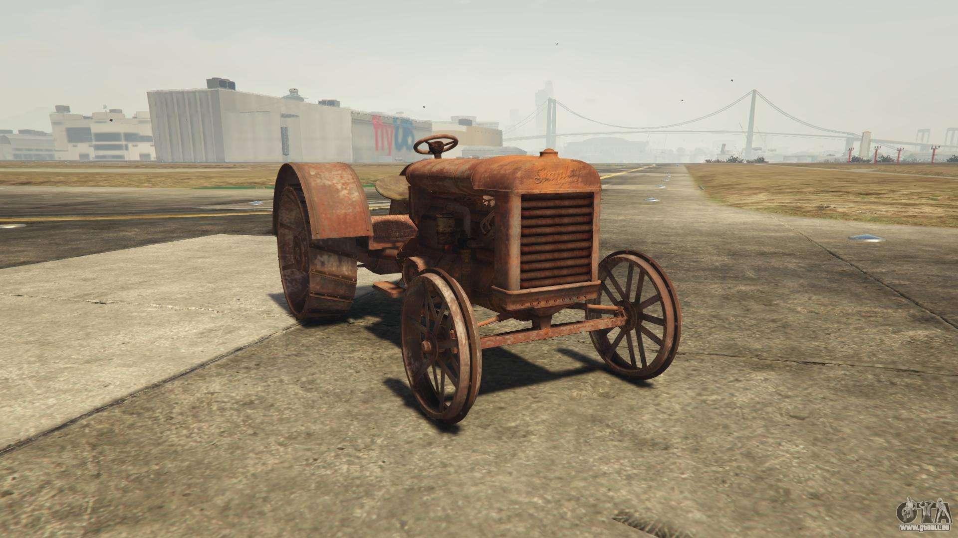 GTA 5 Stanley Tractor - vue de face