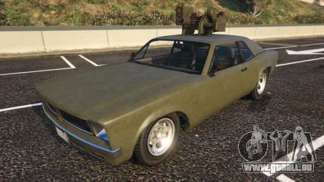 Declasse Weaponized Tampa de GTA 5 vue de face