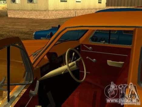 Moskvich 403 Taxi pour GTA San Andreas vue de droite