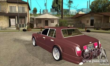 Bentley Arnage GT pour GTA San Andreas sur la vue arrière gauche
