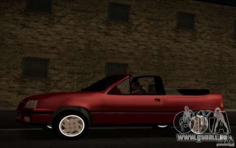 Chevrolet Kadett GSI Cabrio pour GTA San Andreas laissé vue