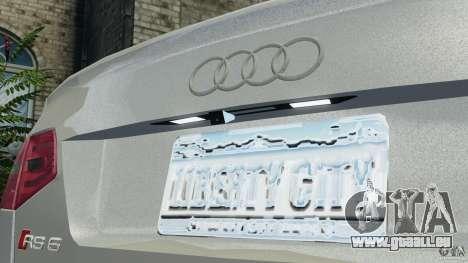 Audi RS6 2010 v1.1 pour GTA 4 vue de dessus