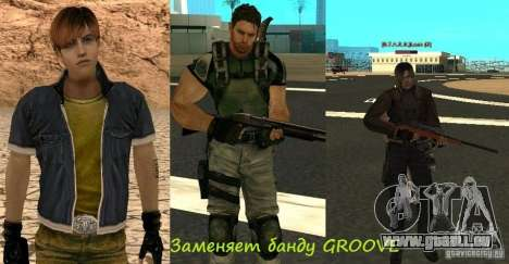Pak personnages de Resident Evil pour GTA San Andreas septième écran