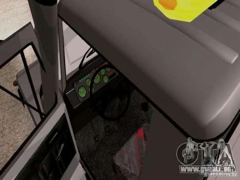 GAZ 3309 Abschleppwagen für GTA San Andreas Innenansicht
