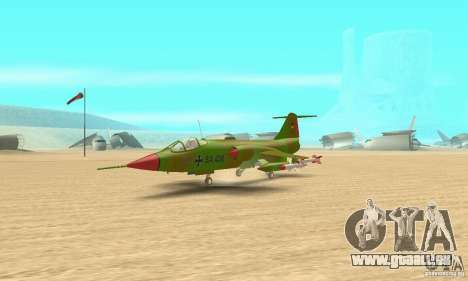 F-104 Starfighter Super (vert) pour GTA San Andreas