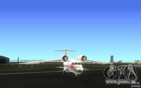 Antonov 74 für GTA San Andreas Rückansicht