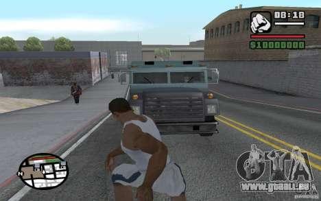 Jeter les pelles pour GTA San Andreas troisième écran