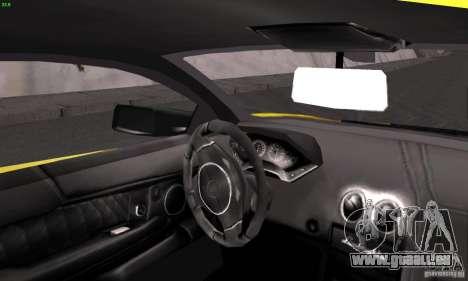 Lamborghini Murcielago LP640 für GTA San Andreas Rückansicht