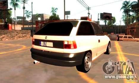 Opel Astra 1993 für GTA San Andreas Rückansicht