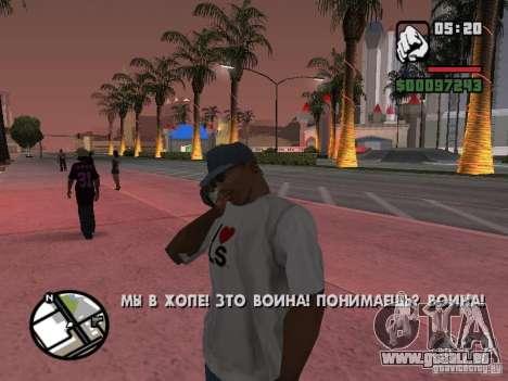IPhone 4 g noir pour GTA San Andreas troisième écran