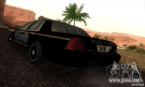 Ford Crown Victoria Alaska Police pour GTA San Andreas laissé vue