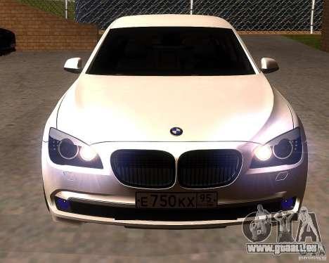 BMW 750Li 2010 pour GTA San Andreas vue arrière