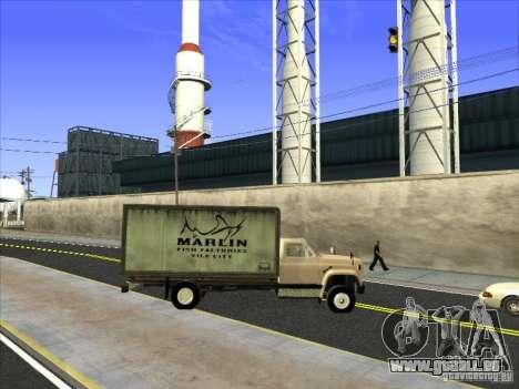 Yankee basé sur GMC pour GTA San Andreas vue de dessus