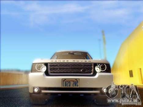 Land-Rover Range Rover Supercharged Series III pour GTA San Andreas vue intérieure