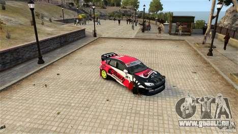 Subaru Impreza WRX STI Rallycross Eibach Springs für GTA 4 Rückansicht