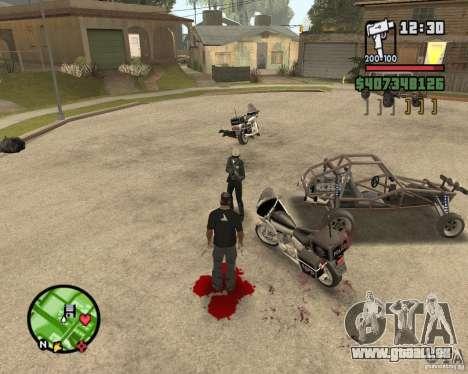 Sangue na tela v2 pour GTA San Andreas