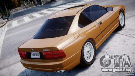 BMW 850i E31 1989-1994 für GTA 4 hinten links Ansicht