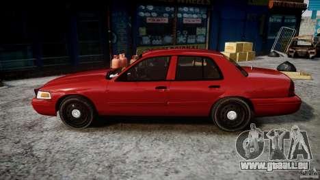 Ford Crown Victoria Detective v4.7 red lights für GTA 4 linke Ansicht