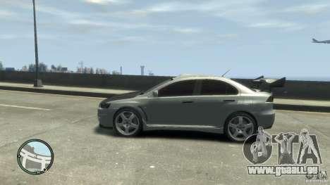 Mitsubishi Lancer Evo X Drift für GTA 4 rechte Ansicht