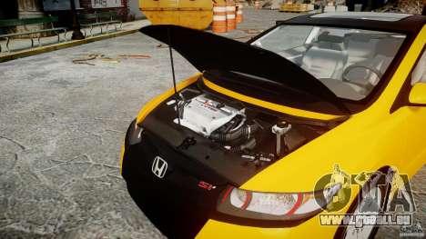 Honda Civic Si Coupe 2006 v1.0 pour GTA 4 vue de dessus
