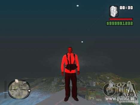 Chemise avec cravate pour GTA San Andreas quatrième écran