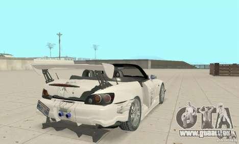Honda S2000 Cabrio West Tuning für GTA San Andreas Unteransicht