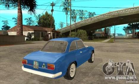 Alfa Romeo Giulia GTA für GTA San Andreas rechten Ansicht