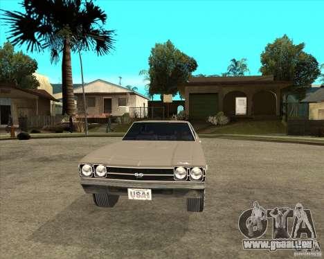 1969 Chevrolet Chevelle pour GTA San Andreas vue arrière
