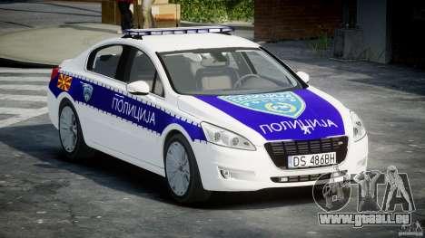 Peugeot 508 Macedonian Police [ELS] für GTA 4