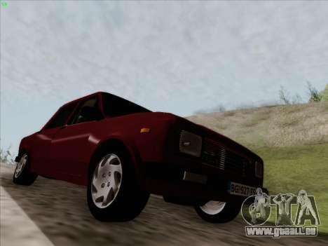 Zastava 128 pour GTA San Andreas sur la vue arrière gauche