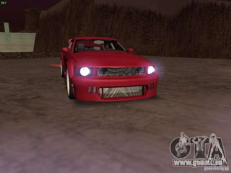 Ford Mustang GT 2005 Tuned pour GTA San Andreas moteur