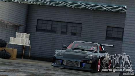 Mazda RX-8 Mad Mike pour GTA 4 Vue arrière de la gauche