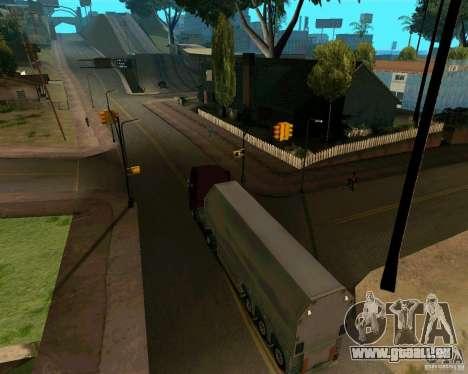 Remorque Steklovoz pour GTA San Andreas vue de droite