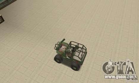 Jeep Willys Rock Crawler pour GTA San Andreas vue de dessus