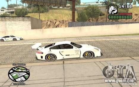Porsche 911 Turbo S Tuned pour GTA San Andreas sur la vue arrière gauche