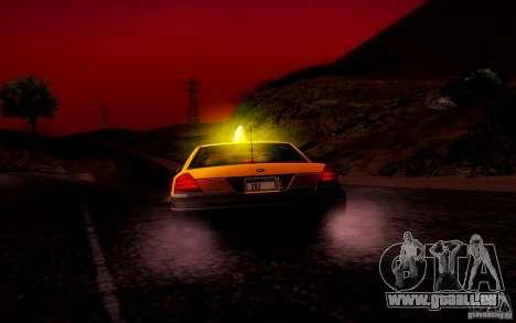 Ford Crown Victoria TAXI 2003 pour GTA San Andreas vue de dessus