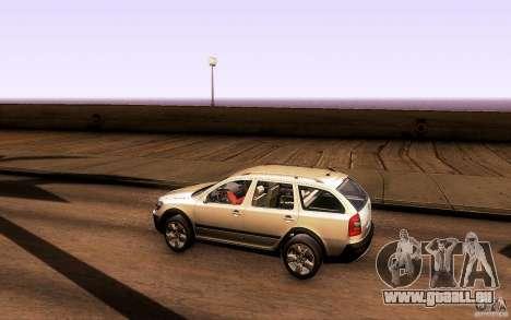 Skoda Octavia Scout für GTA San Andreas zurück linke Ansicht